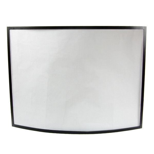 """Oxfordshire Bowed Black Fireplace Screen - 41"""" x 31"""" image number 0"""