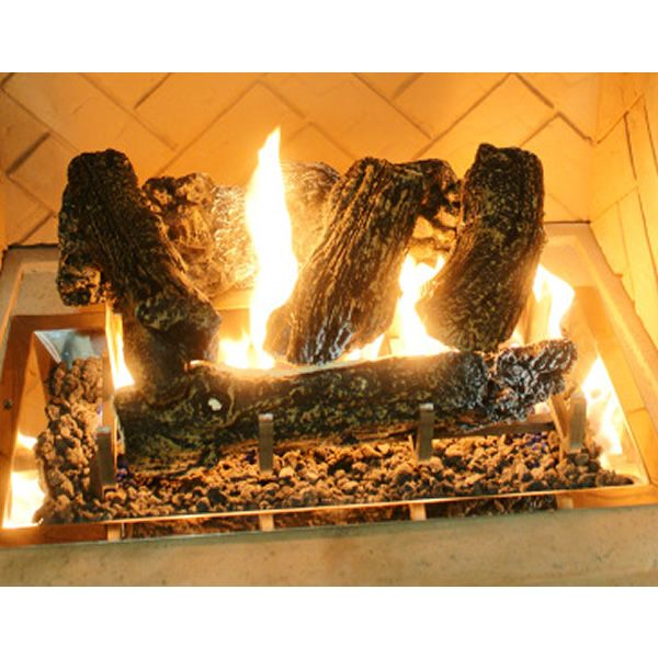 "Log Set for 12"" x 24"" Rectangular Crystal Burner image number 0"