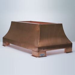 London Square Chimney Shroud - Copper
