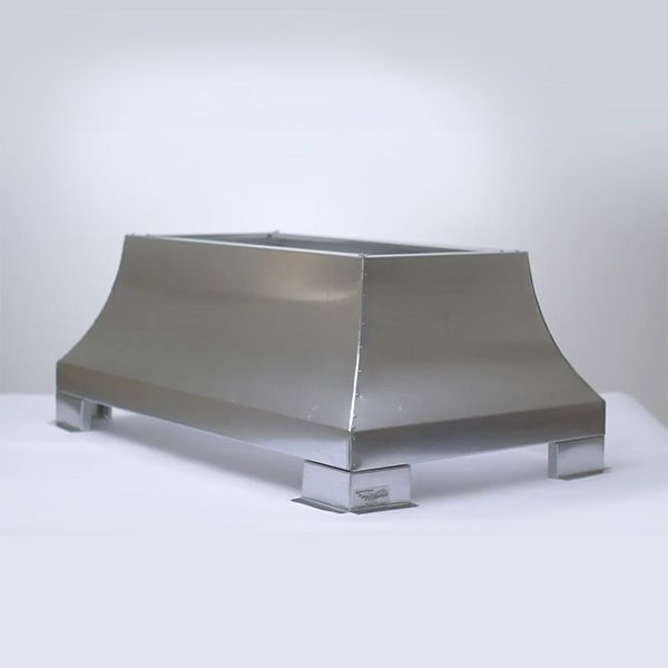 London Square Chimney Shroud - Galvanized Steel image number 0