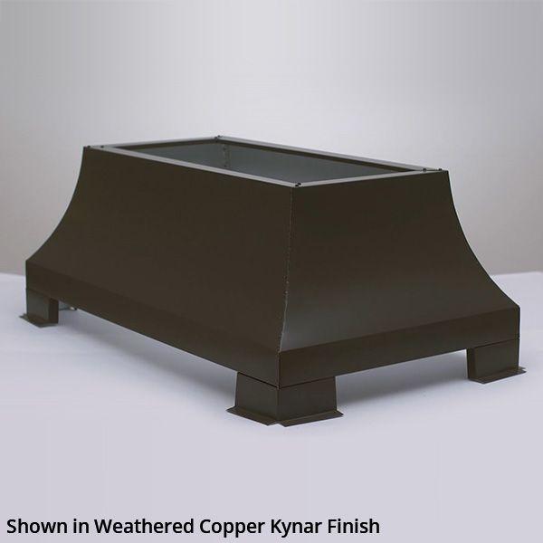 London Square Chimney Shroud - Kynar Steel image number 0