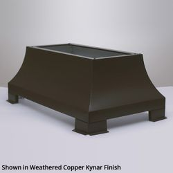 London Square Chimney Shroud - Kynar Steel