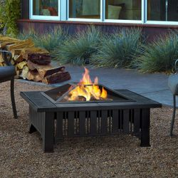 Real Flame Lafayette Wood Burning Fire Pit