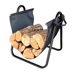 Indoor Log Holder with Canvas Carrier