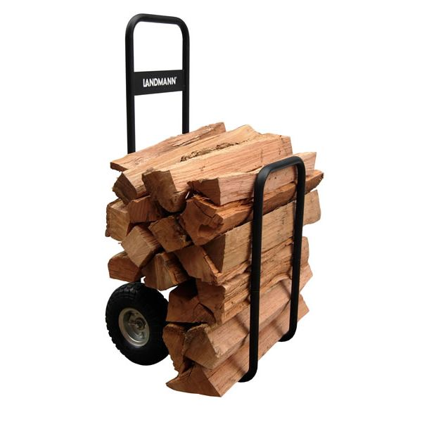 Landmann Log Carrier with Cover - Black image number 1