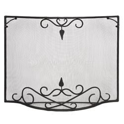 Large Bostonian Curved Fireplace Screen
