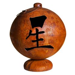 Live, Laugh, Love Wood Burning Fire Globe