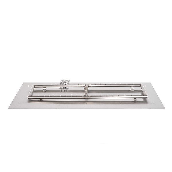 Stainless Steel Rectangular Burner with Flat Pan image number 0