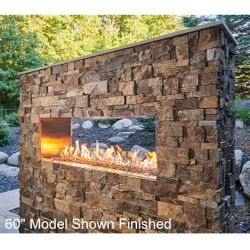 """See-Through Ready-to-Finish Fireplace - Crystal Fire Plus Burner – 40"""""""