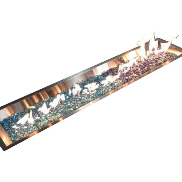 """Linear Crystal Fire Burner - Stainless Steel - 64"""" image number 0"""