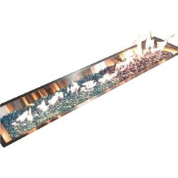 """Linear Crystal Fire Burner - Stainless Steel - 64"""""""