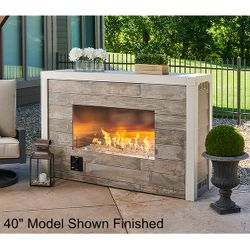 """Linear Ready-to-Finish Fireplace - Crystal Fire Plus Burner – 40"""""""