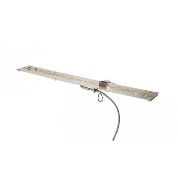 """Linear Stainless Steel Crystal Fire Burner Insert - 7"""" X 57"""" image number 0"""