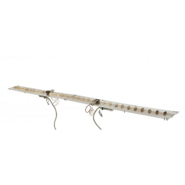 """Linear Stainless Steel Crystal Fire Burner Insert - 7"""" X 66"""" image number 0"""