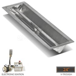 """Linear Trough Drop-in Burner System - 24"""" Electronic"""