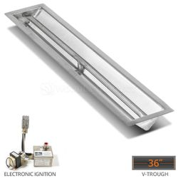 """Linear Trough Drop-in Burner System - 36"""" Electronic"""