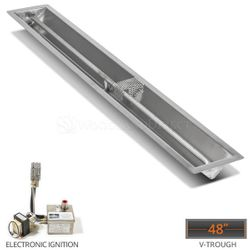 """Linear Trough Drop-in Burner System- 48"""" Electronic Ignition"""