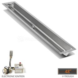 """Linear Trough Drop-in Burner System - 48"""" Electronic"""