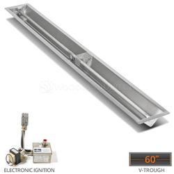 """Linear Trough Drop-in Burner System- 60"""" Electronic Ignition"""