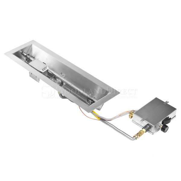 "Linear Trough Gas Fire Pit System with Manual Ignition  - 24"" image number 0"