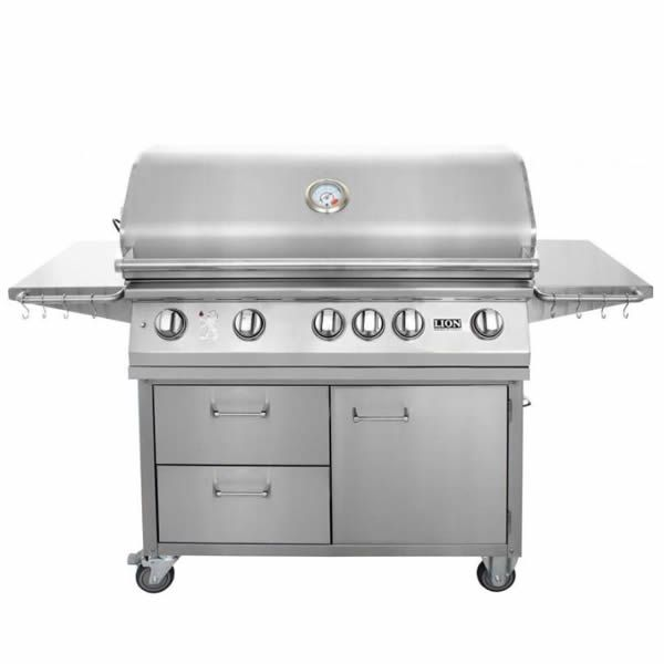 "Lion L90000 Cart-Mount Gas Grill - 40"" image number 0"