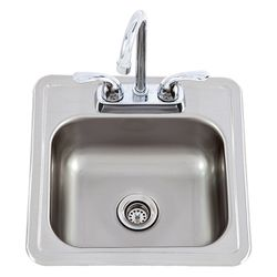 Lion Stainless Steel Bar Sink with Faucet