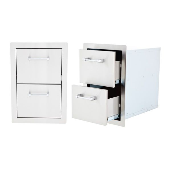 Lion Stainless Steel Built-In Double Drawer image number 0