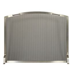 Lumino Stainless Steel Arched Fireplace Screen