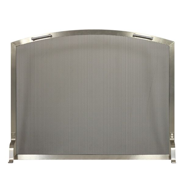 Lumino Stainless Steel Arched Fireplace Screen image number 0