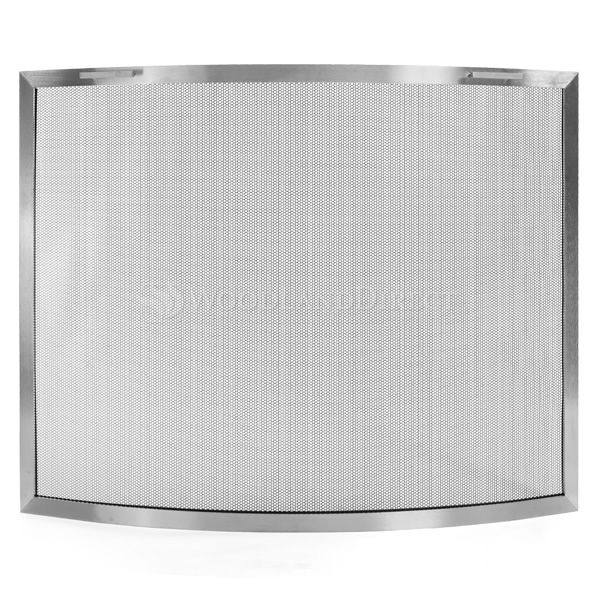 Lumino Stainless Steel Bowed Fireplace Screen image number 0