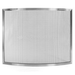 Lumino Stainless Steel Bowed Fireplace Screen