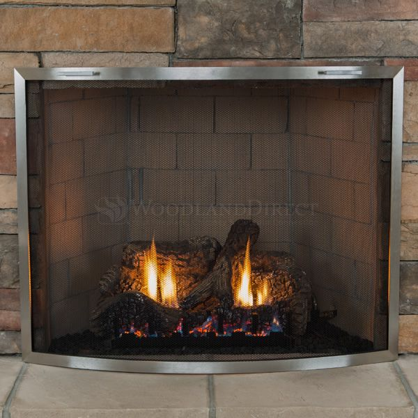 Lumino Stainless Steel Bowed Fireplace Screen image number 1