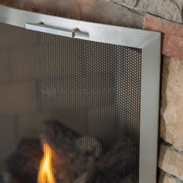 Lumino Stainless Steel Bowed Fireplace Screen image number 2