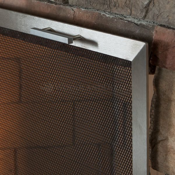 Lumino Stainless Steel Fireplace Screen image number 2