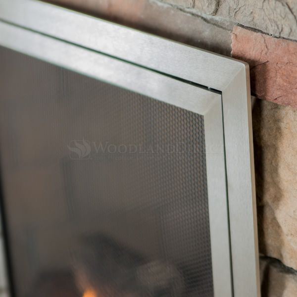 Lumino Stainless Steel Fireplace Screen with Doors image number 3