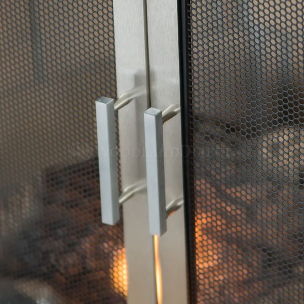 Lumino Stainless Steel Fireplace Screen with Doors image number 4