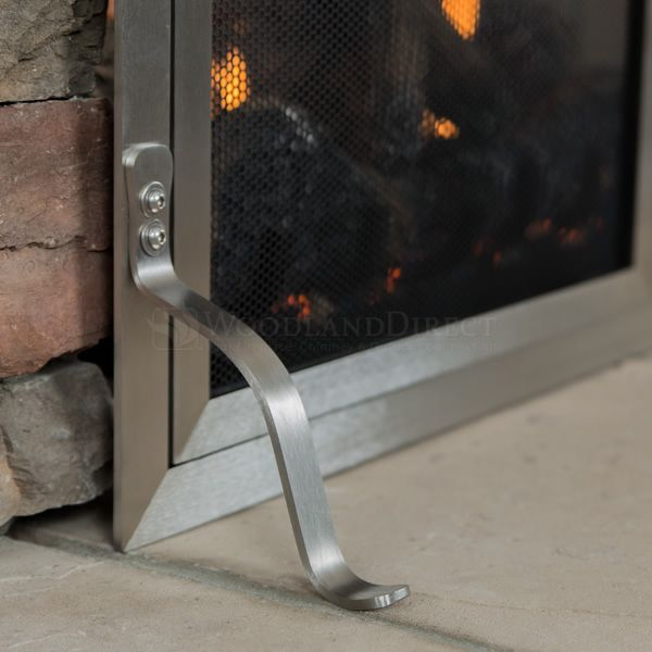 Lumino Stainless Steel Fireplace Screen with Doors image number 5