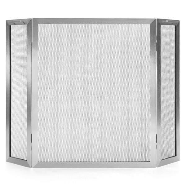 Lumino Stainless Steel Three Panel Fireplace Screen image number 0