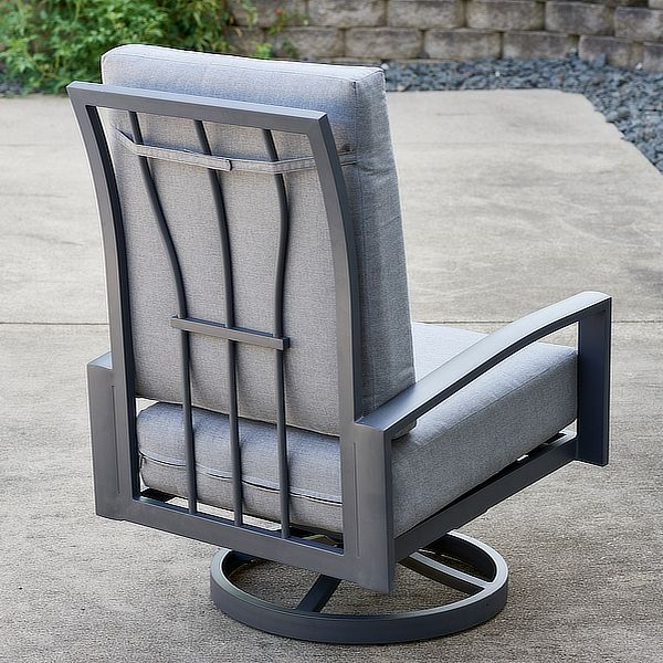 Cast Slate Lyndale Highback Swivel Rocking Chairs image number 3