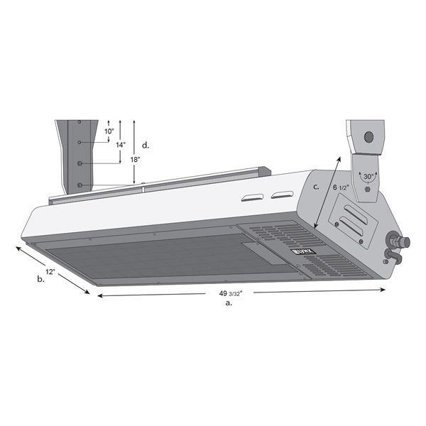 "Lynx LHEM48 Gas Patio Heater - 49"" image number 3"