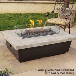 Silver Pine Contempo Gas Fire Pit Table - Rectangle