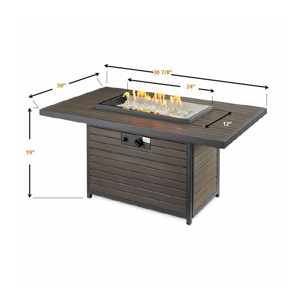 Brooks Outdoor Gas Fire Pit Table image number 6