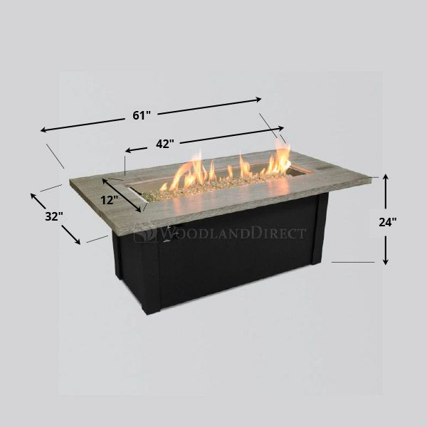 Cedar Bluff Linear Gas Fire Pit Table image number 3