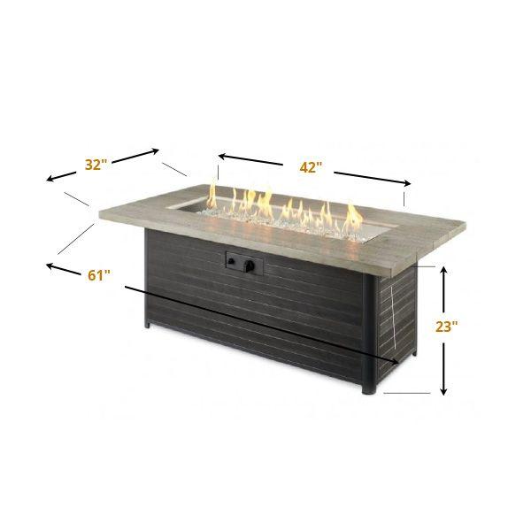 Cedar Ridge Linear Gas Fire Pit Table image number 3