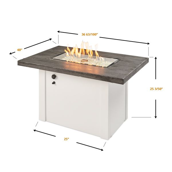 Alcott Linear Gas Fire Pit Table image number 3