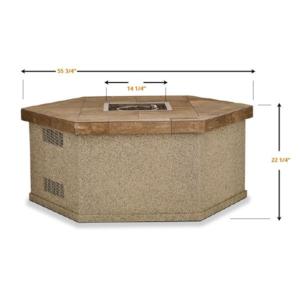 Esagono Gas Outdoor Fire Pit Table image number 5