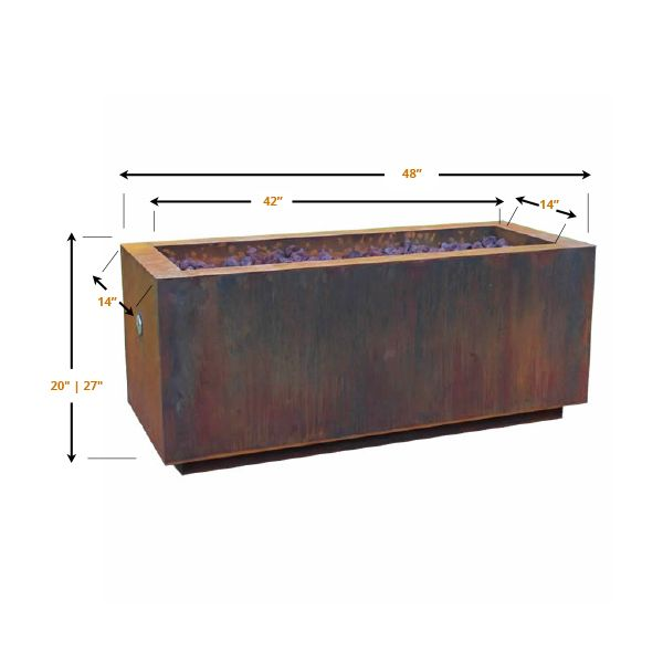 Basa Fia Steel Gas Fire Pit image number 5