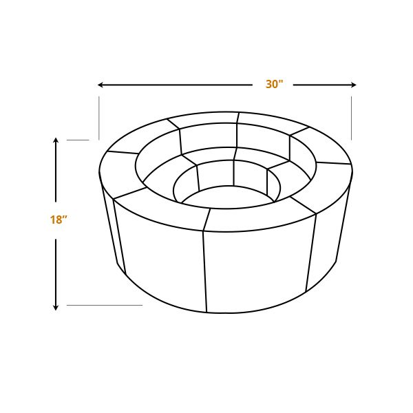 """Pre-Engineered Masonry Fire Ring - 44"""" image number 5"""