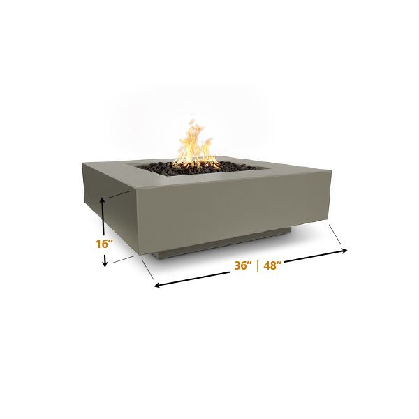 Cabo Concrete Square Fire Pit image number 1