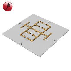 "350,000 BTU Square Match Lit Crossfire Burner System - 48"""